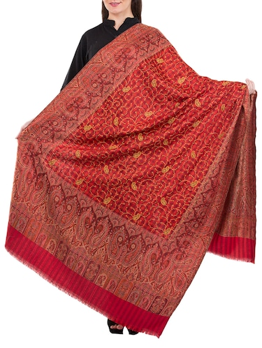 red wool blend shawl - 14511442 - Standard Image - 1