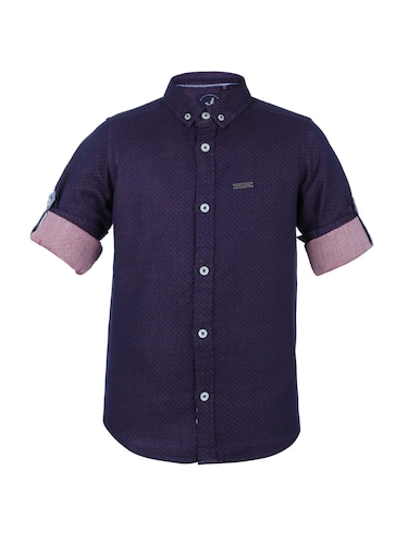 navy blue cotton shirt - 14513364 - Standard Image - 1