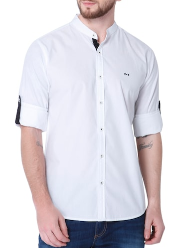 white cotton casual shirt - 14514091 - Standard Image - 1