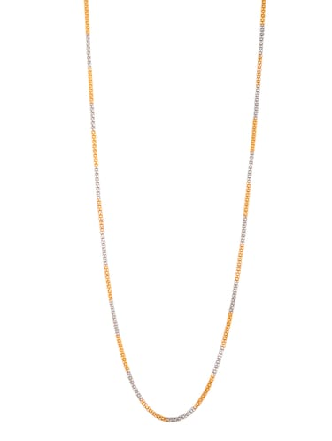 gold metal chain necklace - 14515923 - Standard Image - 1