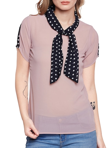 pink solid top - 14516462 - Standard Image - 1
