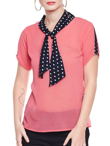 pink solid top - 14516464 - Standard Image - 1