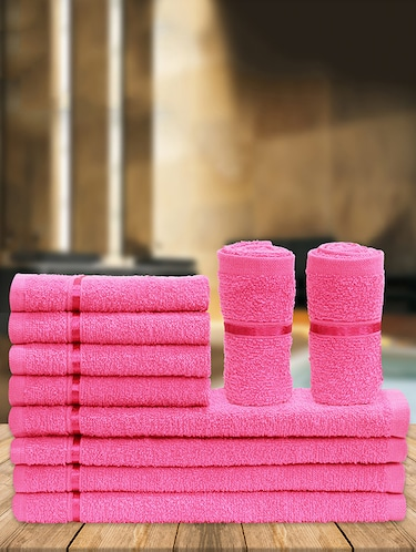 Pure Cotton Set of 10 Face Towel - 14519207 - Standard Image - 1