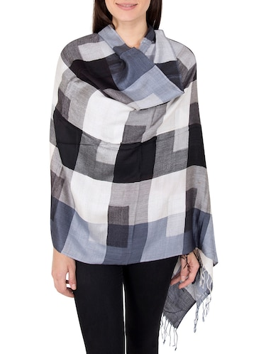 multi colored woolen stole - 14521433 - Standard Image - 1