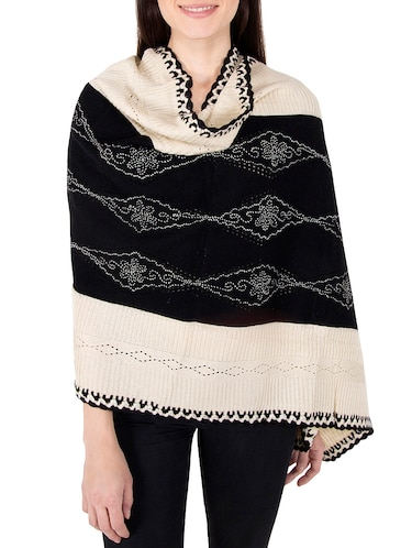 multi colored woolen stole - 14521440 - Standard Image - 1