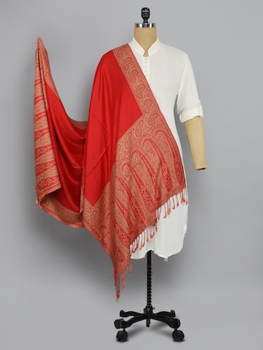 red solid shawl - 14521574 - Standard Image - 1