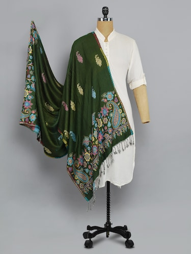 green floral shawl - 14521587 - Standard Image - 1