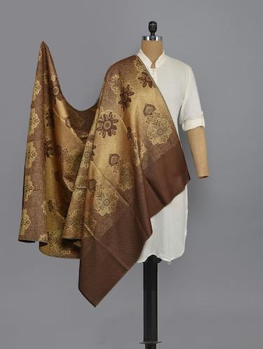 brown woolen shawl - 14521626 - Standard Image - 1