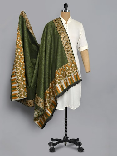 green colored shawl - 14521659 - Standard Image - 1