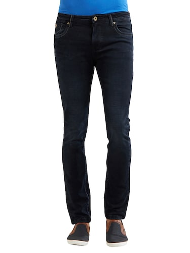 blue cotton washed jeans - 14525621 - Standard Image - 1