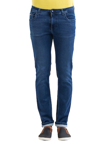 blue cotton washed jeans - 14525638 - Standard Image - 1