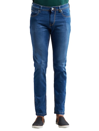 blue cotton washed jeans - 14525663 - Standard Image - 1