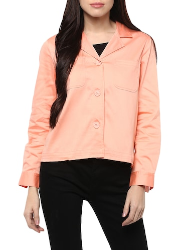 pink cotton summer jacket - 14527285 - Standard Image - 1