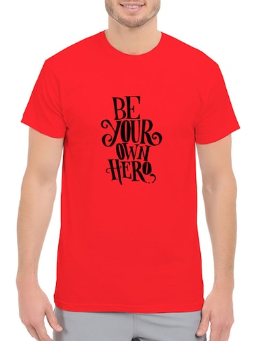 red cotton t-shirt - 14528504 - Standard Image - 1