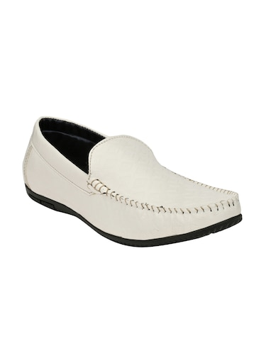 white leatherette slip on loafer - 14528670 - Standard Image - 1