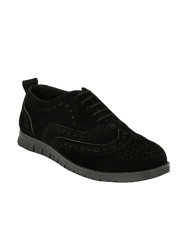 black Suede lace up shoe - 14528684 - Standard Image - 1