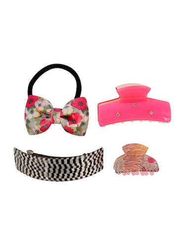 THE ETHNIC WEARS Plastic Hair Clip for Women - Set of 4 (HCC-0001) - 14528739 - Standard Image - 1