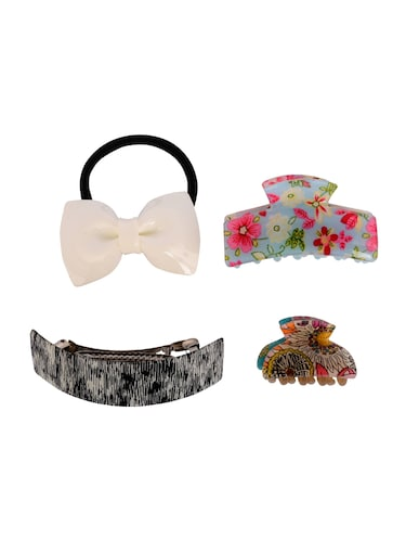 THE ETHNIC WEARS Plastic Hair Clip for Women - Set of 4 (HCC-0009) - 14528747 - Standard Image - 1