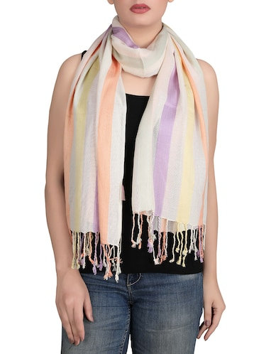 white viscose scarf - 14528945 - Standard Image - 1