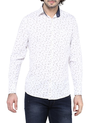 white cotton casual shirt - 14528984 - Standard Image - 1