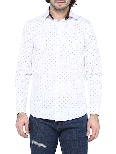 white cotton casual shirt - 14528988 - Standard Image - 1