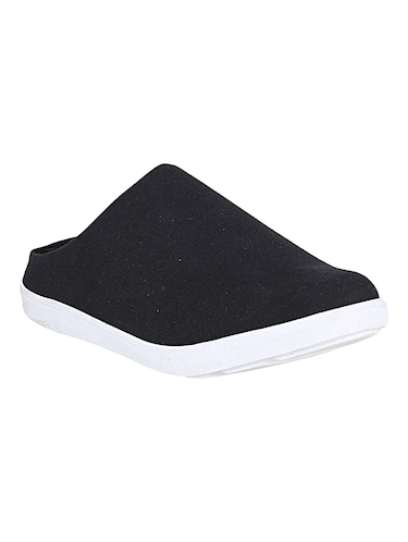 black canvas slip on mules - 14529128 - Standard Image - 1