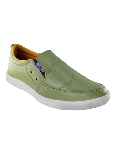 green leatherette casual slipon - 14529137 - Standard Image - 1