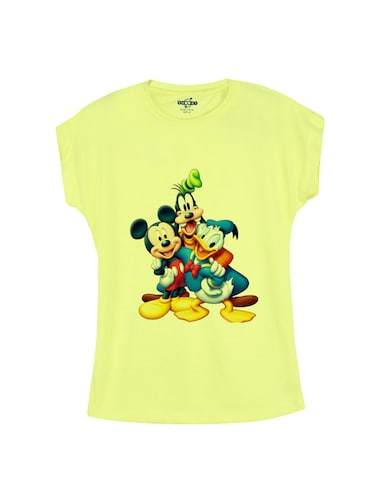 yellow cotton tee - 14530386 - Standard Image - 1