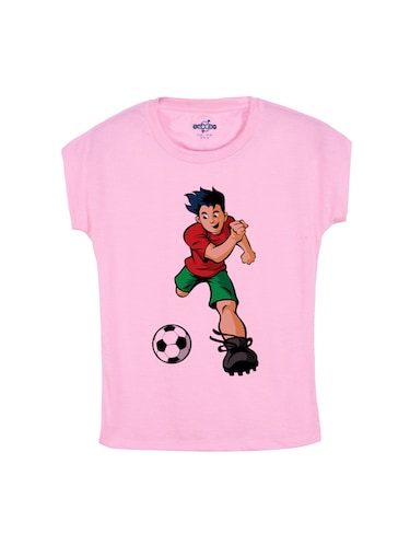 pink cotton t-shirt - 14530518 - Standard Image - 1