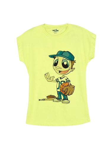 yellow cotton t-shirt - 14530546 - Standard Image - 1