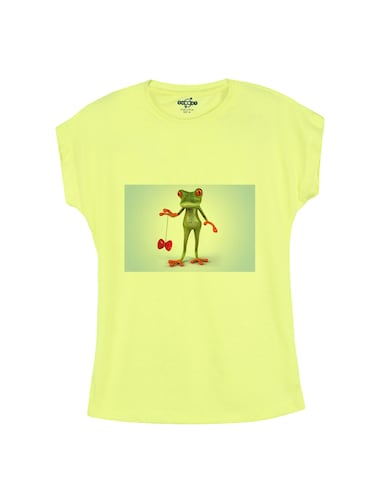 yellow cotton tee - 14530556 - Standard Image - 1