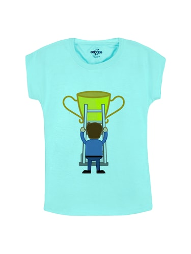 blue cotton tee - 14530645 - Standard Image - 1