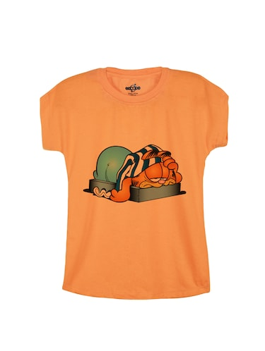 orange cotton tee - 14530767 - Standard Image - 1