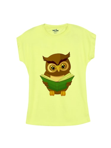 yellow cotton tee - 14530821 - Standard Image - 1