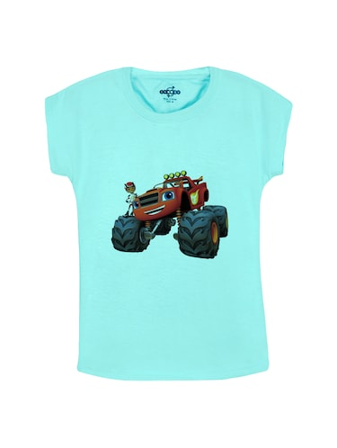 blue cotton  tee - 14531045 - Standard Image - 1