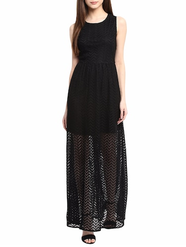 black maxi dress - 14531486 - Standard Image - 1
