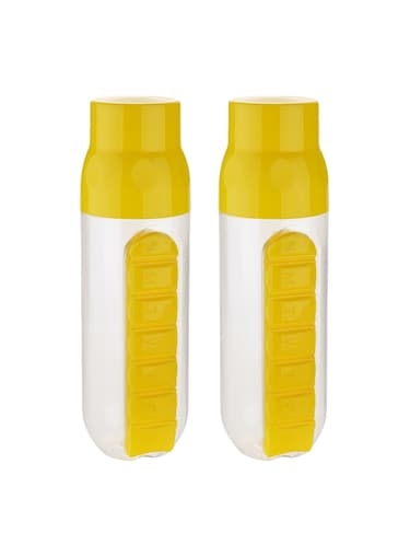 Combo of 2 pcs Red Pill Organizer Water Bottle each 700 ml - 14531518 - Standard Image - 1