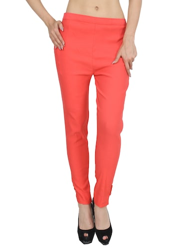 orange rayon trouser - 14531540 - Standard Image - 1