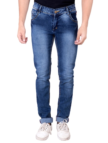 blue denim washed jeans - 14531564 - Standard Image - 1