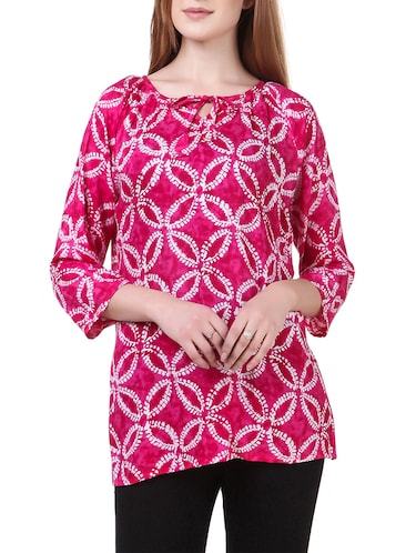 pink rayon casual top - 14531860 - Standard Image - 1