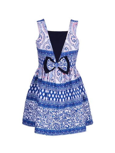 blue polyester frock - 14531876 - Standard Image - 1