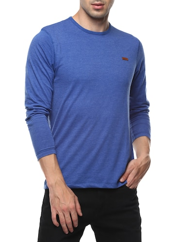 blue cotton  t-shirt - 14531963 - Standard Image - 1