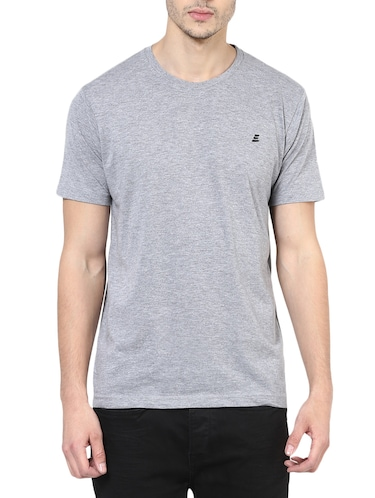 grey cotton t-shirt - 14531967 - Standard Image - 1