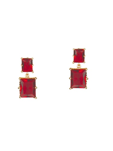 red metal drop earrings - 14533208 - Standard Image - 1