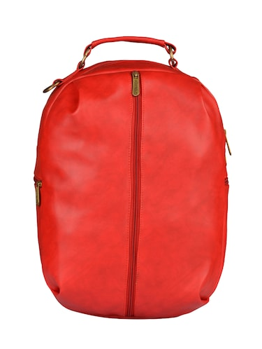 red leatherette  fashion backpack - 14533591 - Standard Image - 1