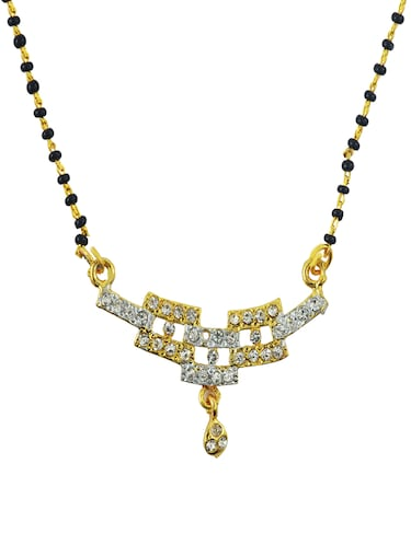 gold metal mangalsutra necklace - 14533694 - Standard Image - 1