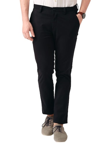 black cotton chinos casual trouser - 14534705 - Standard Image - 1