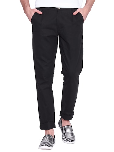black cotton chinos casual trouser - 14534708 - Standard Image - 1