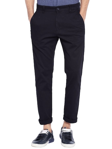 navy blue cotton chinos casual trouser - 14534723 - Standard Image - 1