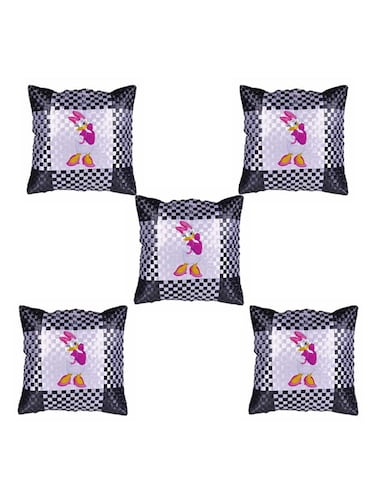"Cartoon Character ""Daisy duck"" Printed Set Of 5 Cushion Covers - 14535577 - Standard Image - 1"